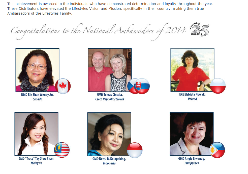 national ambasadore 25